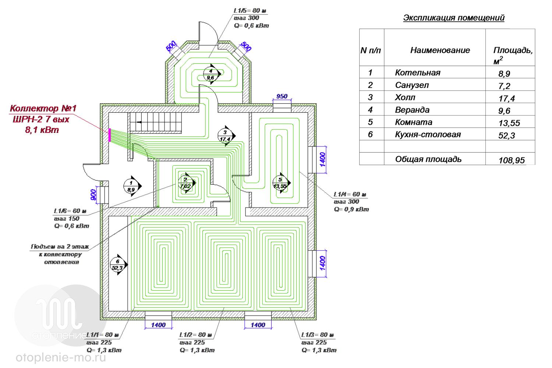 Схема теплого пола фото