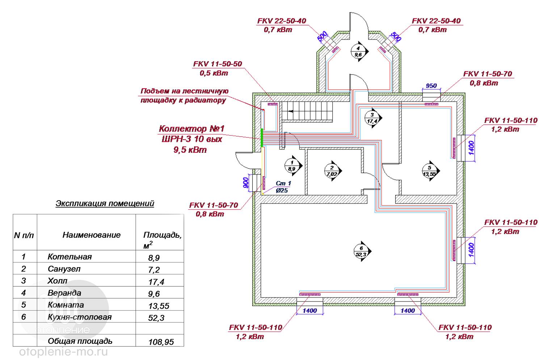 Схемы подключения радиаторов отопления фото