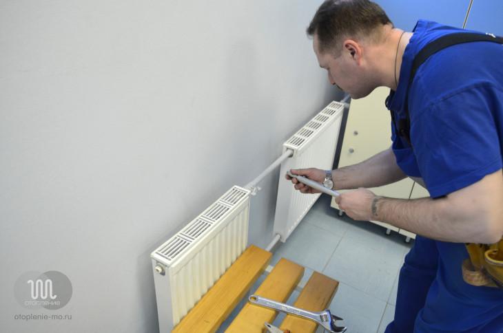Подключение и установка радиаторов отопления фото