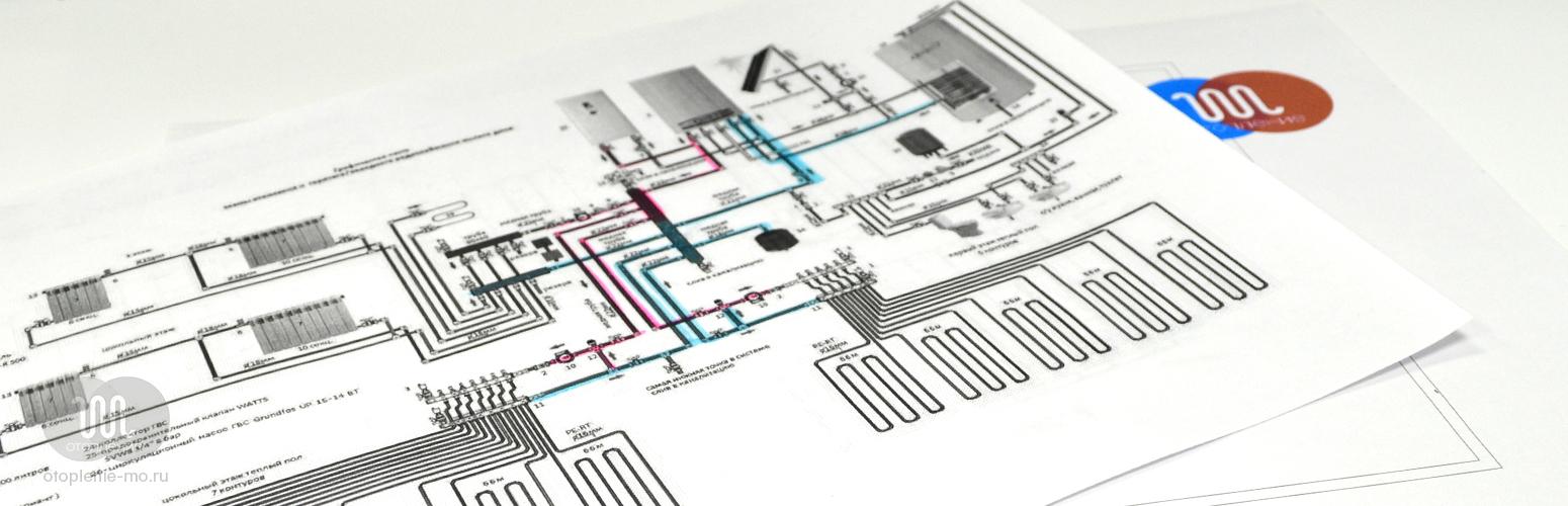 Фото схемы разводки труб и трубопроводов отопления