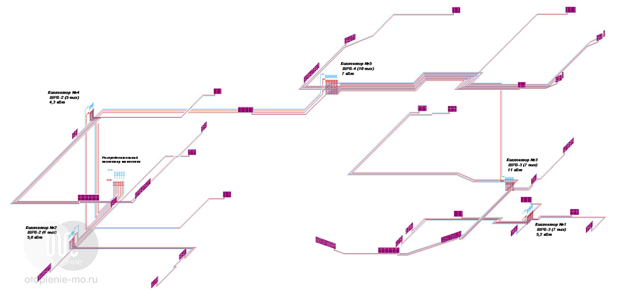 Схема установки и подключения конвектора отопления