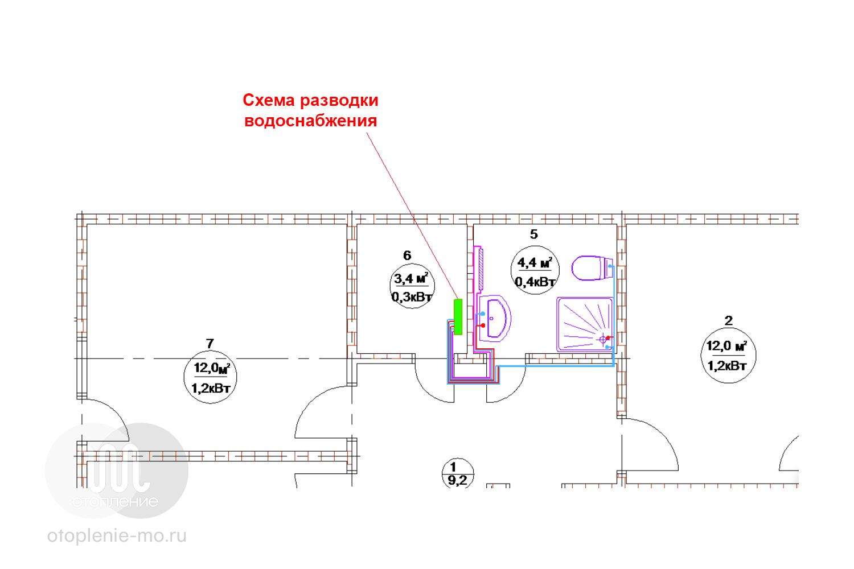 Схема разводки водоснабжения дома