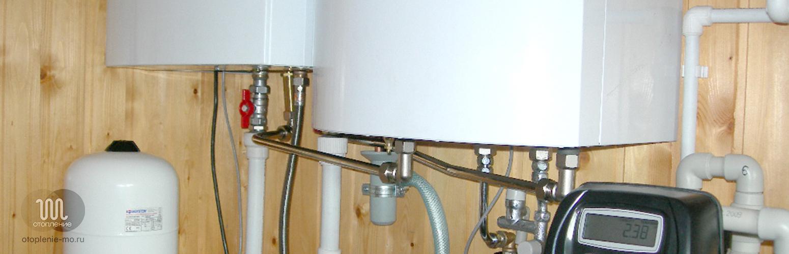 Монтаж и подключение газового котла фото